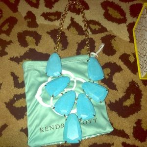 Kendra Scott Harlow Necklace turquoise/gold